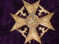 Испанский крест без мечей в бронзе (копия)