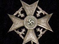 Испанский крест без мечей в серебре (копия)