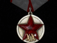 медаль XX лет РККА (на пятиугольной колодке) (копия)