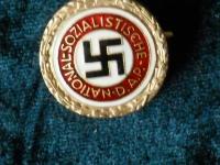 Партийный знак НСДАП золотой (копия)